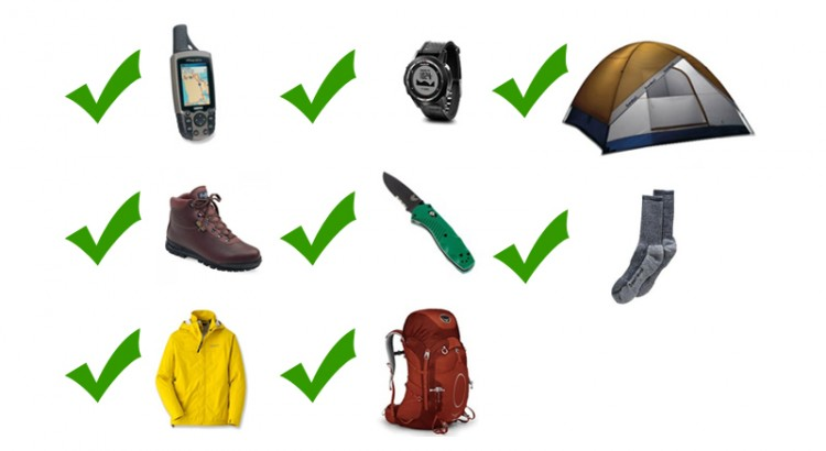 Checklist hiking